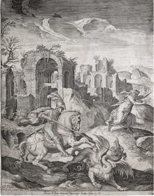 San Jorge matando al dragón, 1577