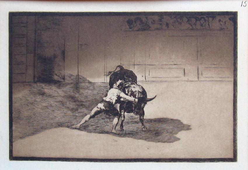 El famoso Martincho poniendo banderilla al quiebro, 1814-1816