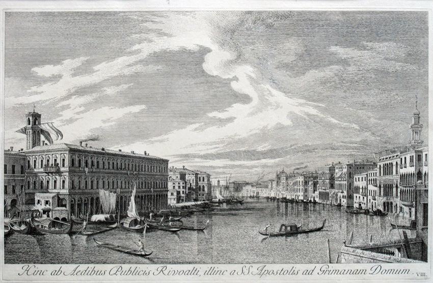 Vista de Venecia (Hinc ab Aedibus Rivoalti...), 1742