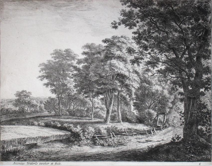 Hombre a caballo en un paisaje, c. 1650