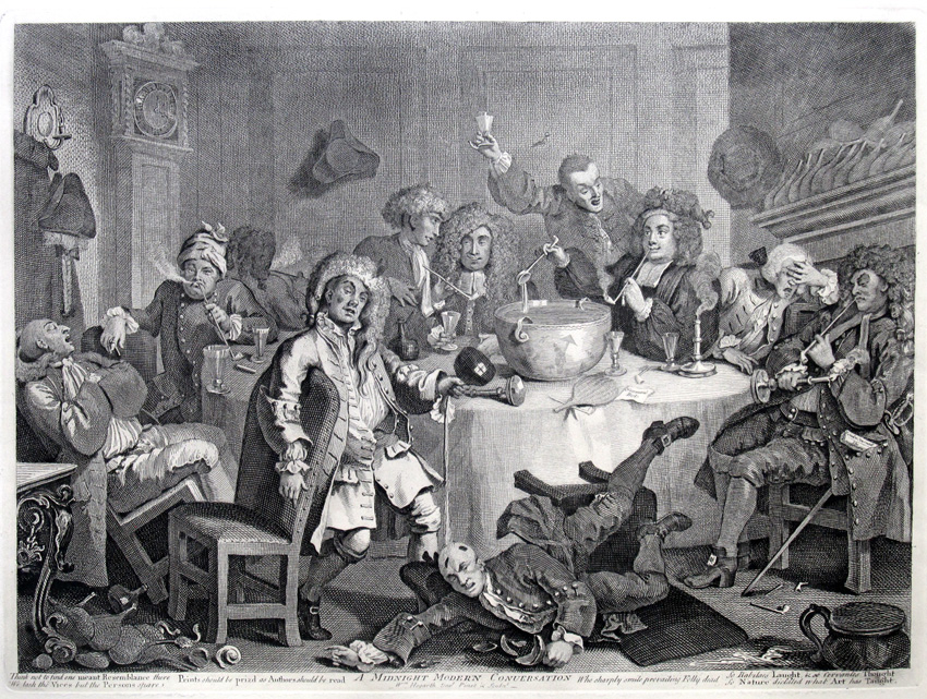 Moderna conversación a medianoche, 1732-33