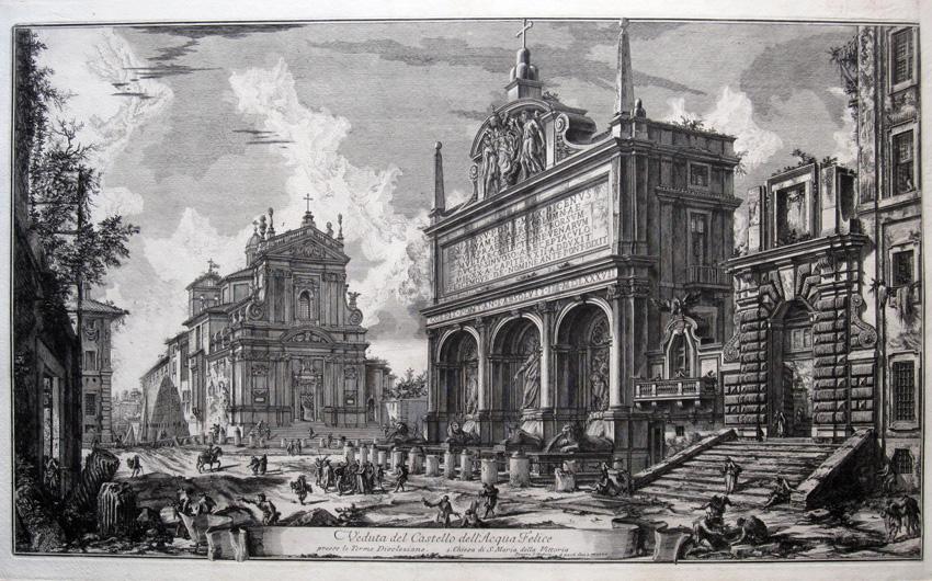Veduta della fontana dell'Acqua Felice, 1751
