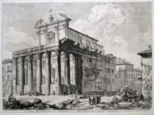 Veduta del Tempio di Antonino e Faustina, 1758