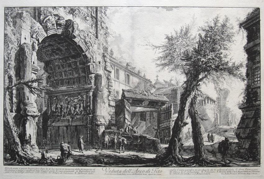 Vista del Arco de Tito, c. 1760