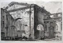 Veduta dell'Atrio del Portico di Ottavia, 1760.