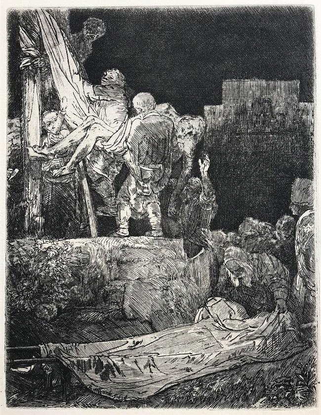 El descendimiento (a la luz de una antorcha), 1654
