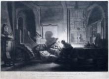 La Sagrada Família por la noche,  ca. 1750.