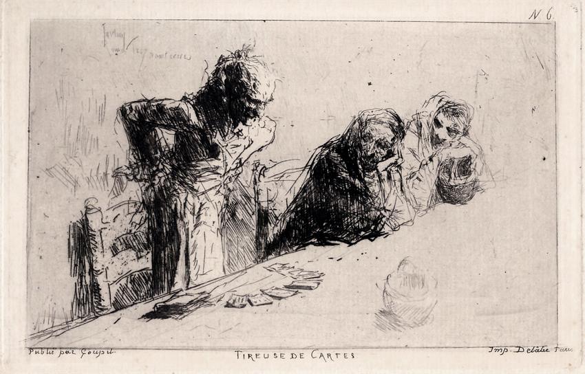 Echadora de cartas, 1867