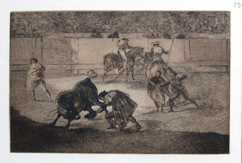 Pepe Illo haciendo recorte al toro, 1814-1816
