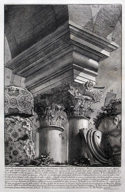 Dos columnas con sus capiteles, 1756