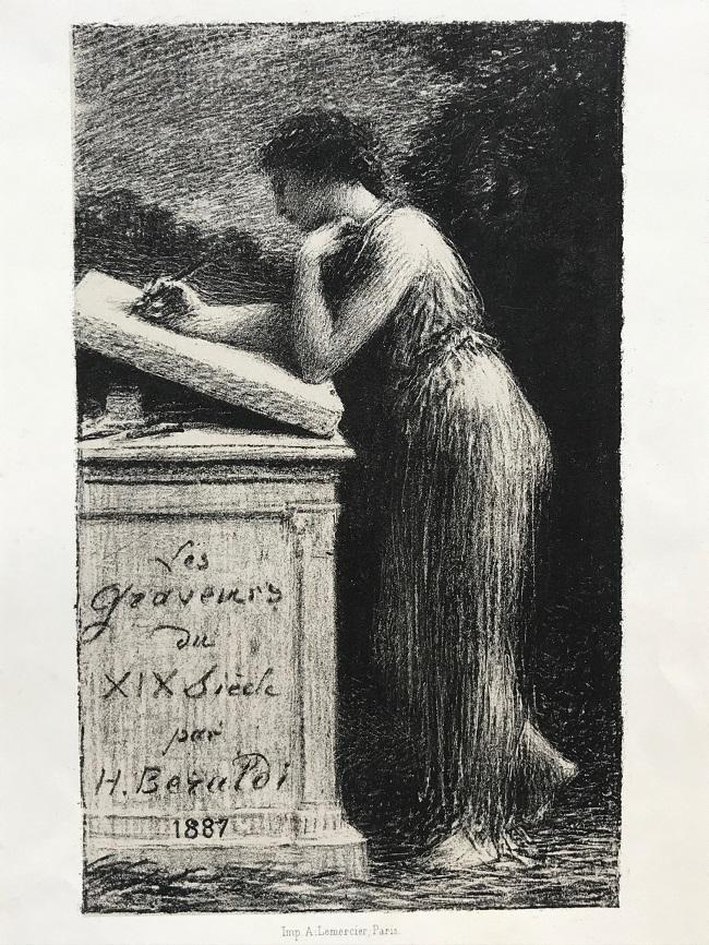 La litografía, 1887