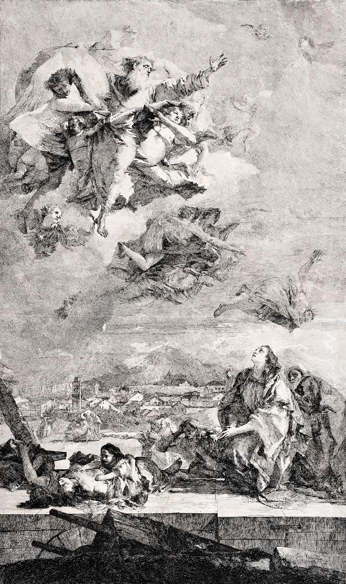 Santa Tecla intercede ante Dios Padre para la liberación de la peste, c. 1765.